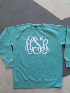 Comfort Colors Vinyl Monogrammed Sweatshirt