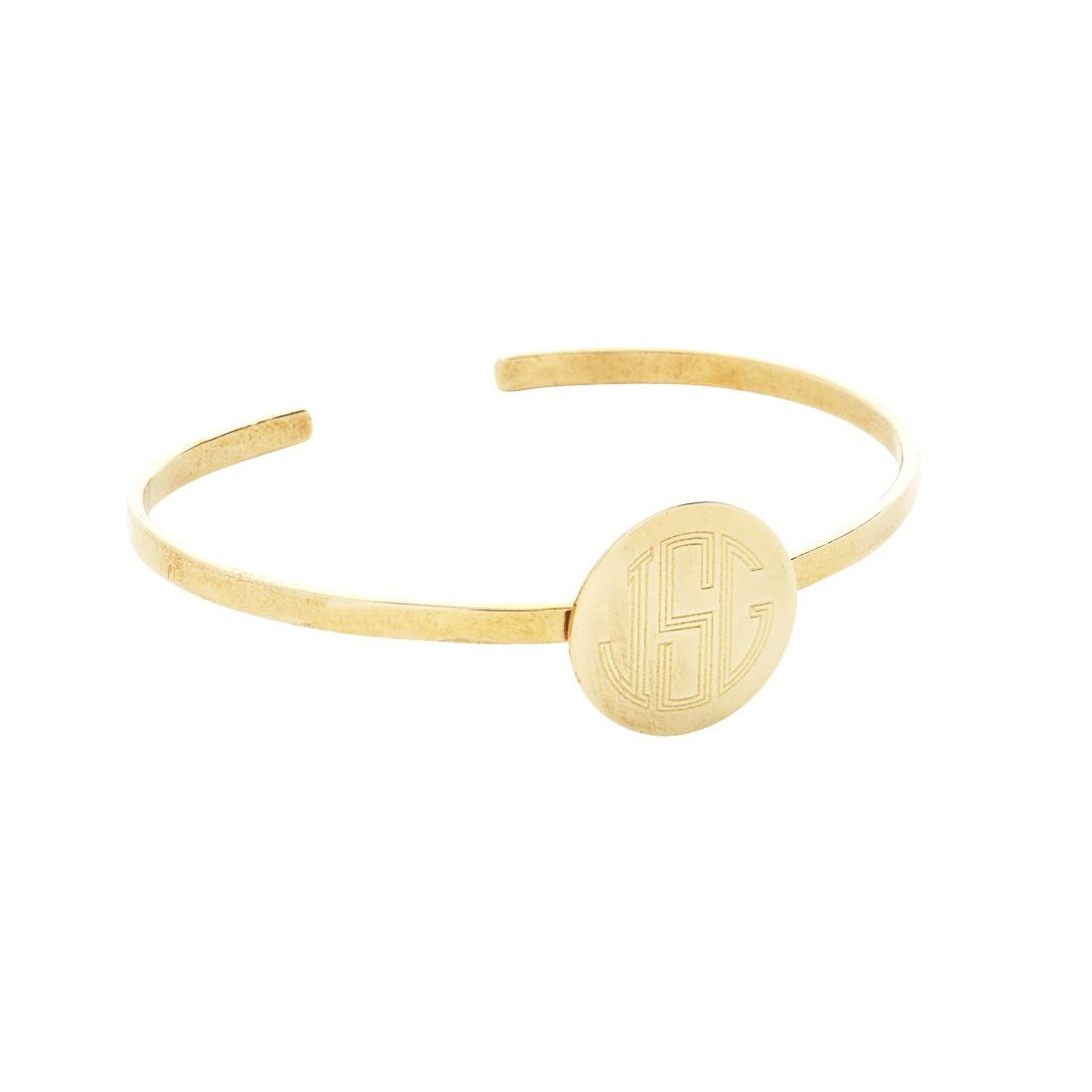 Gold Round Cuff