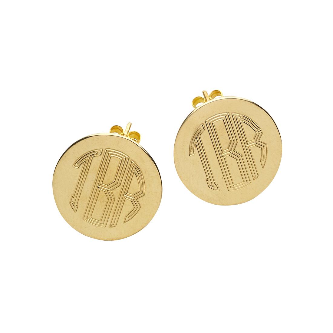 Gold Post Earrings