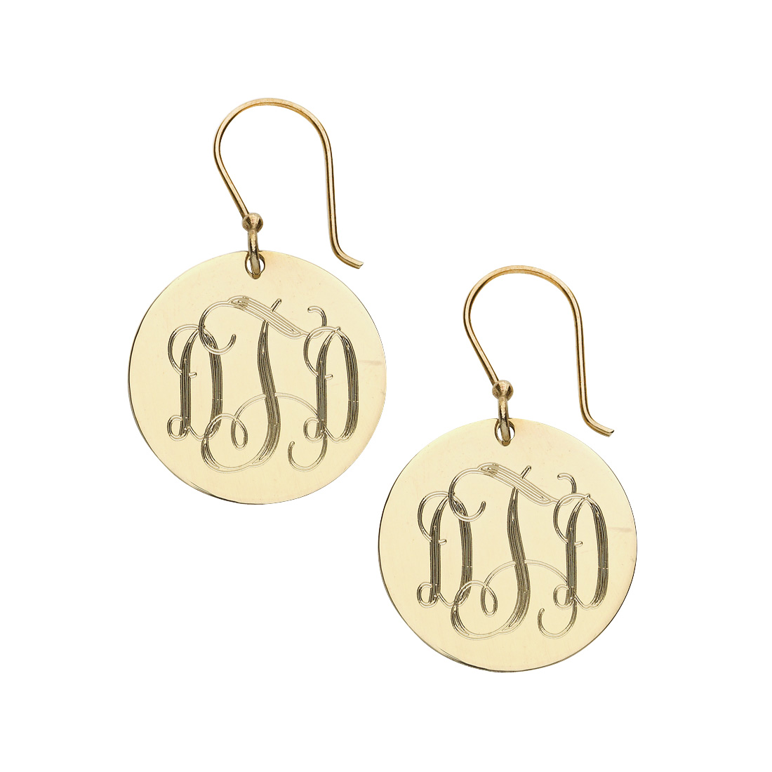 Gold French Wire Earrings