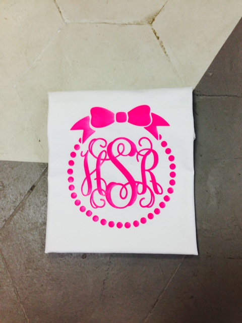 Bow Short Sleeve Monogram Tee