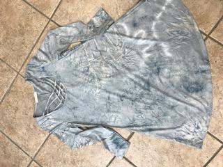 Tie Die Dress with Strappy Detail