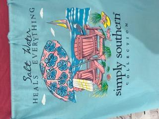 Simply Southern Short Sleeve T-shirt- Salt Water Heals