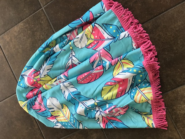 "Simply Southern 62"" Round Beach Towel (Two patterns available)"