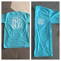 Monogrammed Comfort Colors Long Sleeve (Front and back monogram included)