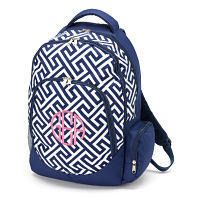 Backpack - Navy/white