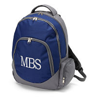 Backpack- Navy/Grey