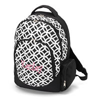 Backpack-Black/White Circle