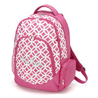Backpack-Pink/white circle