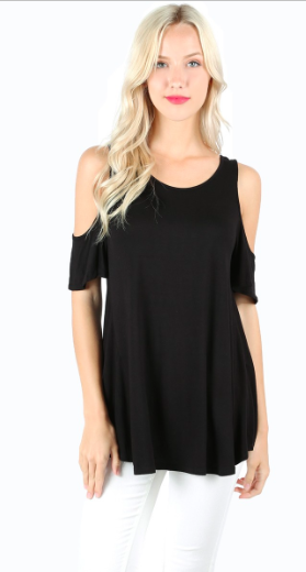 Cold Shoulder Basic Top-Three colors available!