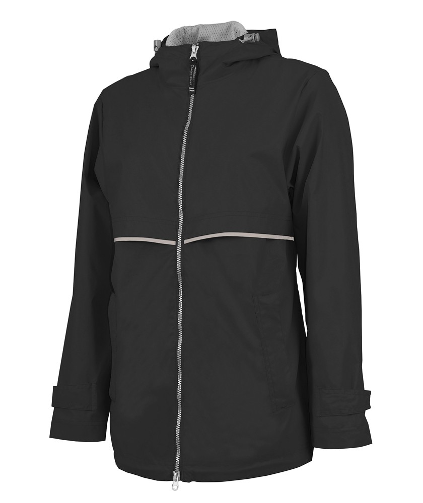 Monogrammed Rain Jacket-Black