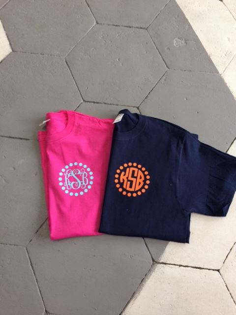 Circle Frame Monogram Short Sleeve T-shirts