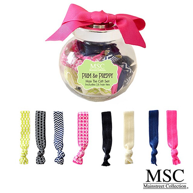 Preppy Hair Tie Gift Set