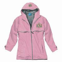 Monogrammed Rain Jacket - Pink