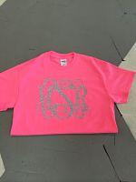 Neon Pink Glitter Vinyl Monogram Tee