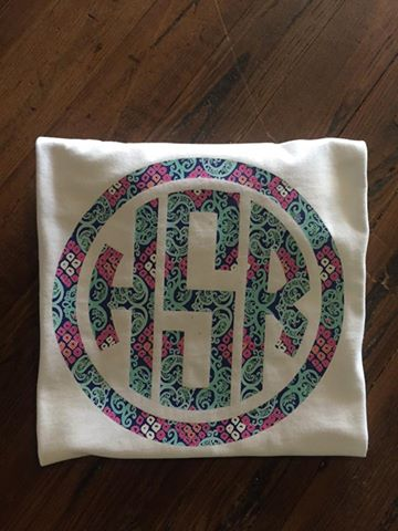 Large Front Monogram T-shirt with Printed Vinyl