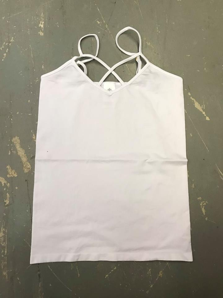 White Criss Cross Tank